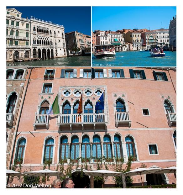 vaporetto ride to hotel in Venice